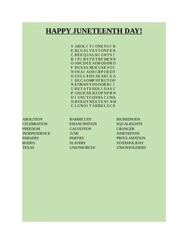 HAPPY JUNETEENTH DAY!