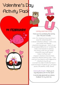 HAPPY VALENTINES ACTIVITY PACK