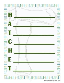 HATCHET-NOVEL ACROSTIC