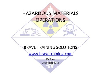 HAZMAT FIRST RESPONER OPERATIONS (HAZARDOUS MATERIAL)