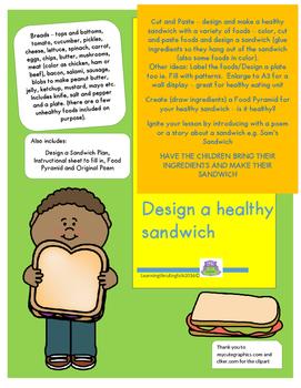 HEALTHY SANDWICH - CUT, PASTE, COLOR, ORIGINAL POEM AND FO