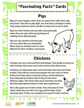 HEART (Humane Education): Lesson 4 - Moo, Oink, Cluck (Gra