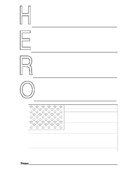 HERO Acrostic Poem Template