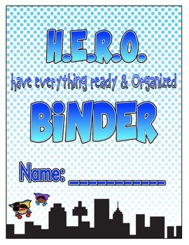 HERO Student Binder or Folder Cover