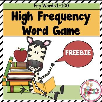 HFW Game using Fry List 1-100