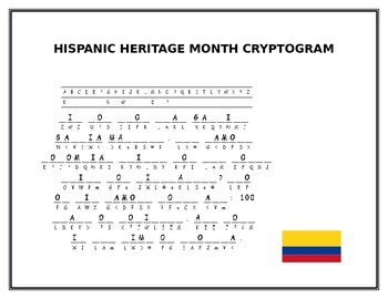 HISPANIC HERITAGE MONTH CRYPTOGRAM- A CHALLENGE!