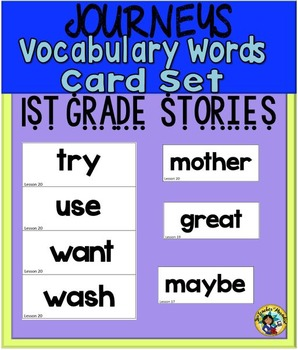 HM Journeys – Vocabulary Words Card Set {First Grade}
