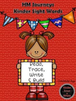HM Journeys Kinder Sight Words Read, Trace, Write, Build U