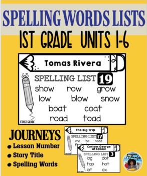 Journeys – Spelling Lists Cards Set {First Grade}