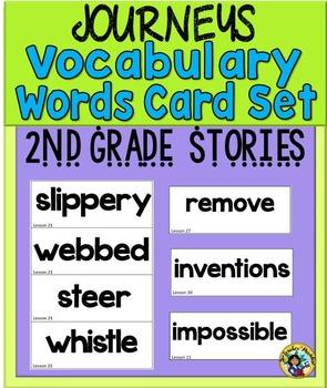 Journeys - Vocabulary Words Card Set   {Second Grade}