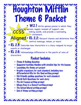 2nd Grade HM Theme 6 Unit Tied to CCSS: GOs, World Cafe, W
