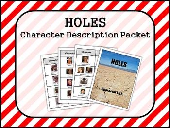 HOLES by Louis Sachar CHARACTER Description Packet
