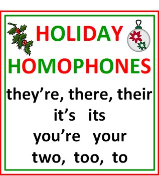 HOLIDAY HOMOPHONES (62 examples)
