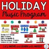 Holiday Music Program: Original Songs, Script, Sheet Music
