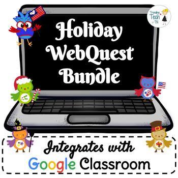 Holiday Webquest Bundle - NO PREP! Editable in Google Slides!