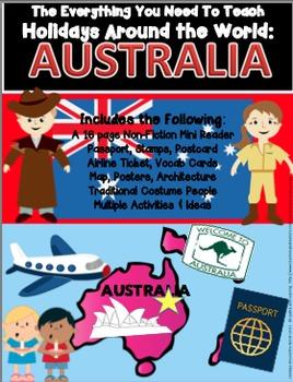 HOLIDAYS AROUND THE WORLD:  AUSTRALIA Mini Unit