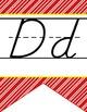 HOLLYWOOD - Alphabet Flag Banner, handwriting, A to Z, D'