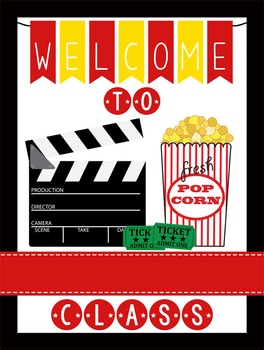 HOLLYWOOD - Classroom Decor: WELCOME Poster - 18 x 24, you