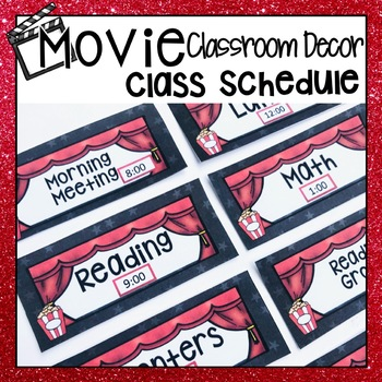 HOLLYWOOD MOVIE THEMED CLASSROOM DECOR DAILY SCHEDULE DISP