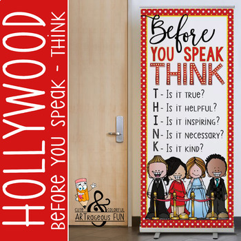 HOLLYWOOD Theme - Classroom Decor: LARGE  BANNER - Before