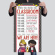 HOLLYWOOD Theme - Classroom Decor : SMALL  BANNER - When Y