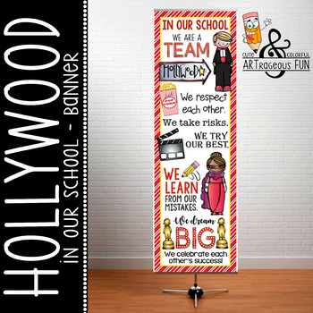 HOLLYWOOD Theme - Classroom Decor : XLARGE  BANNER - In Ou
