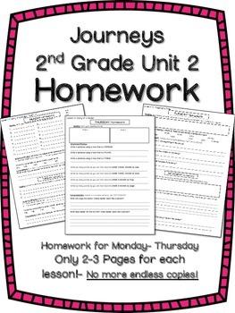 HOMEWORK for Journeys 2nd Grade UNIT 2
