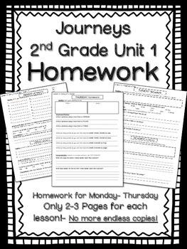 HOMEWORK for Journeys 2nd Grade Unit 1