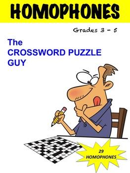 HOMOPHONES CROSSWORD PUZZLE