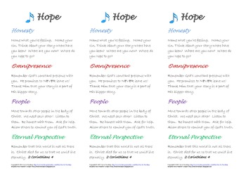 HOPE bookmark-a reminder to hope in Christ