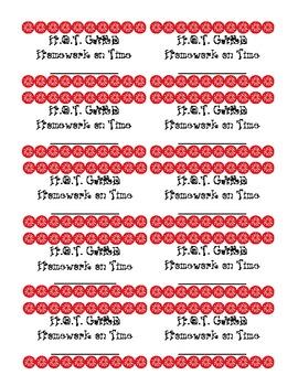 H.O.T (Homework On Time) Card