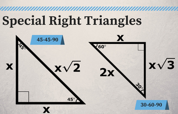"""HQ Special Right Triangles - Classroom Poster 11"""" x 17"""""""
