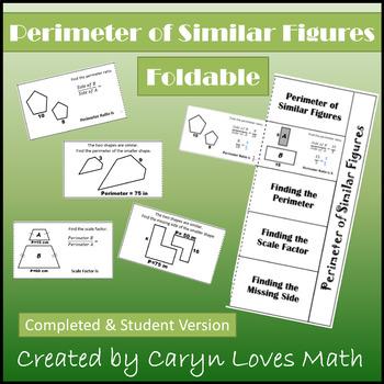 HS Geometry - Finding Perimeter of Similar Figures FOLDABL