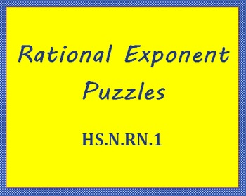 HS.N-RN.1 Fractional Exponent Puzzles