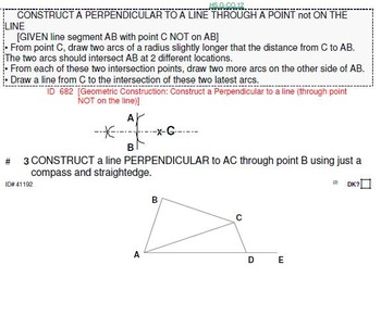 HS Geometry B UNIT 2: Constructions (3 worksheets and 8 op