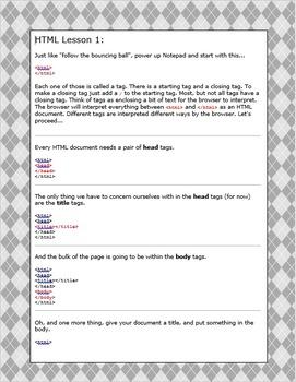 HTML Lesson 1 argyle background
