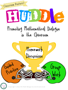 HUDDLE: Math Group Discussion Expectation Posters {Freebie}