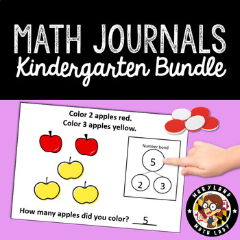 HUGE BUNDLE of 120 Math Journals with Number Bonds: Kindergarten