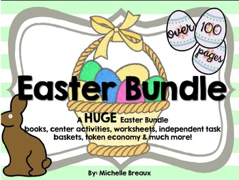 HUGE Easter Spring Bundle Math & Literacy Centers PreK, K,