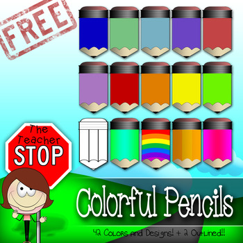 HUGE FREEBIE!! 42 Colored Pencils {The Teacher Stop} by The Teacher Stop