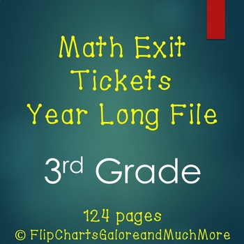 HUGE File ~ Math Quick Check Slips / Exit Tickets 3rd Grad
