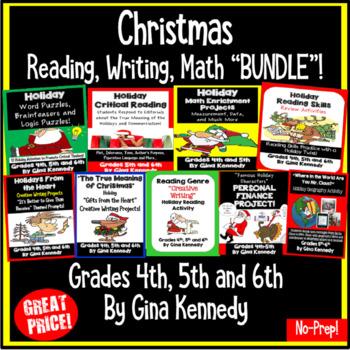 "Holiday (Christmas) Reading, Writing, Math, Geography ""BUNDLE"""
