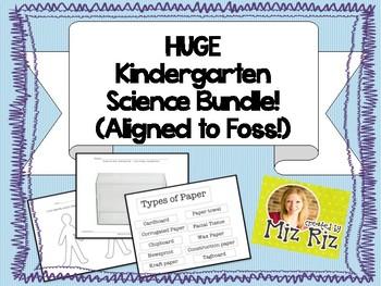 HUGE Kindergarten Science Bundle!  17 pages of printables!