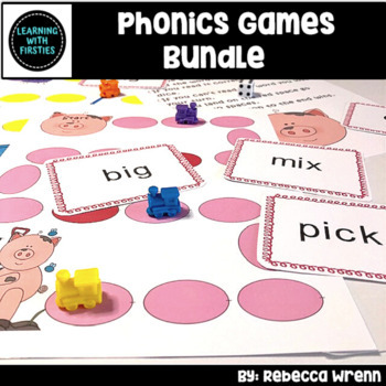 HUGE Phonics Games Bundle for Word Work Literacy Centers