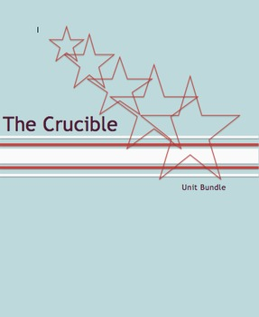 **HUGE UNIT BUNDLE** The Crucible: Common Core Aligned