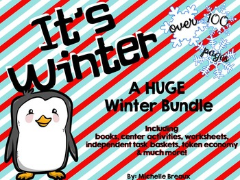 HUGE Winter Activity Bundle Adapted for Special Education