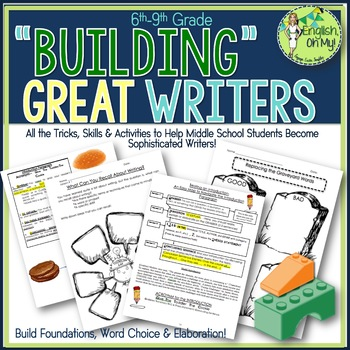"Writing Unit-""Building"" Great Writers-Lessons Plans, Activ"