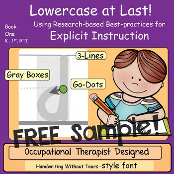 HWT compatible printing workbook: Free Sample: Lowercase at Last!