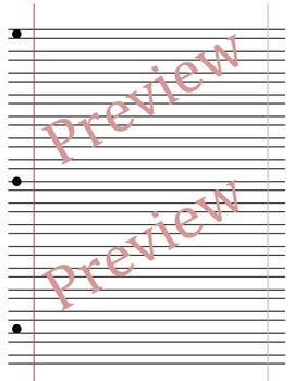 HWT style cursive paper