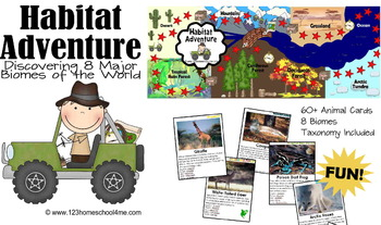 Habitat Adventure!  Biology Science Game - Animals, Biomes